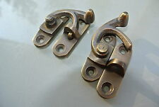 2 Nice medium small box Latch catch solid brass furniture 40 mm doors trinket B