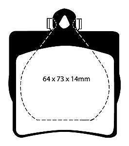 DP41191R EBC Yellowstuff Rear Brake Pads fit CHRYSLER MERCEDES