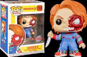Chucky-Battle-Damaged-Child-039-s-Play-3-Movie-Funko-Pop-Vinyl-New-in-Box