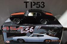 ACME: 1:18 1970 CHEVROLET CHEVELLE 454 LS6 TOM GARAGE VERSION BLACK/RED STRIPES