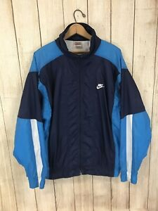2ac97a84229a Image is loading Vintage-Nike-Colorblock-Full-Zip-Windbreaker-Jacket-Men-