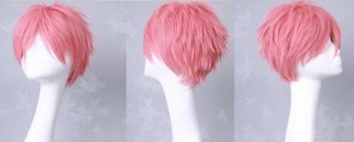 blue Exorcist shima Cosplay Perücke wig pink kurz Natsu Dragneel FAIRY TAIL neu