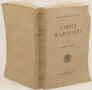 BENEDETTO CROCE LIRICI MARINISTI MARINISMO POESIA BAROCCA 1910 1 ED STIGLIANI