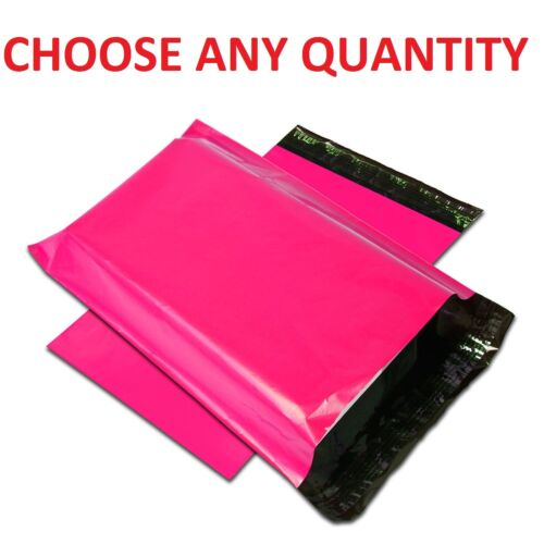 """6x9 HOT PINK POLY MAILERS Shipping Envelopes Self Sealing Mailing Bags 6/"""" x 9/"""""""