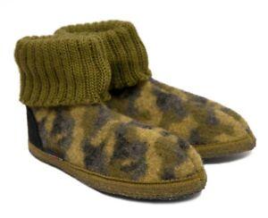 Détails sur Haflinger Cabanes Chaussures CARO camouflage kaki camouflage roseaux feutrine 632044 nouveau afficher le titre d'origine