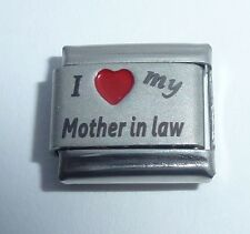 I LOVE MY MOTHER IN LAW 9mm Italian Charm RED HEART fits Classic 9mm Bracelets