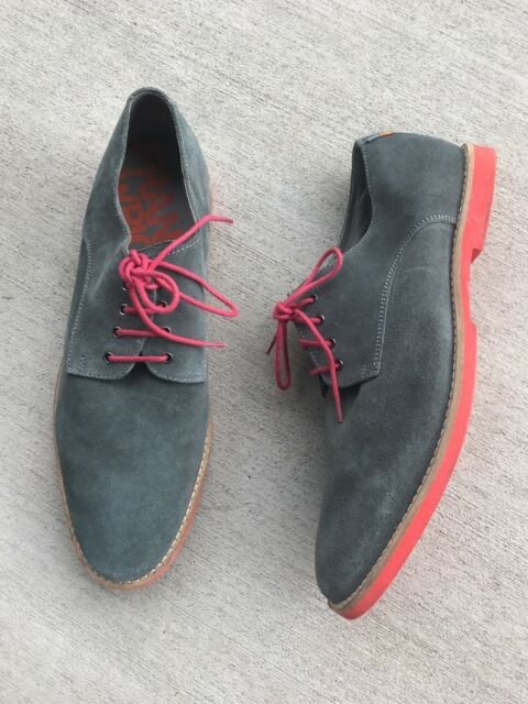 4887b5889e2 Frank Wright DODD Derby Men Grey Suede Leather Oxford Shoes Sneakers US 11   45