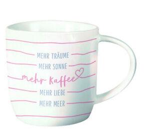 Porzellan 300ml Kaffeetasse Becher Gute Laune Tasse Mehr Träume..