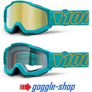 100/% Accuri Motocross MX Anti-Fog Clear Lens Goggles