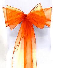 10/50/100PCS Organza Chair Cover Sash Bow Wedding Party Reception Banquet Decor