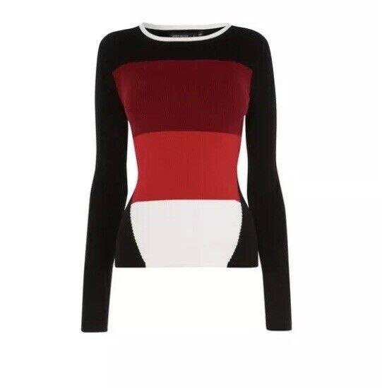 Karen Millen Colourblock Knit Jumper Größe XS £99