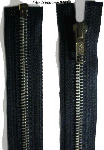 """Nº 5 YKK ZIP Bout Ouvert Marine HEAVY DUTY 18/""""//46CM /& 23.5/""""//60CM Aluminium Dents"""
