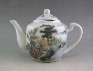 Chinese-Old-Famille-Rose-landscape-design-Porcelain-Teapot-Mark