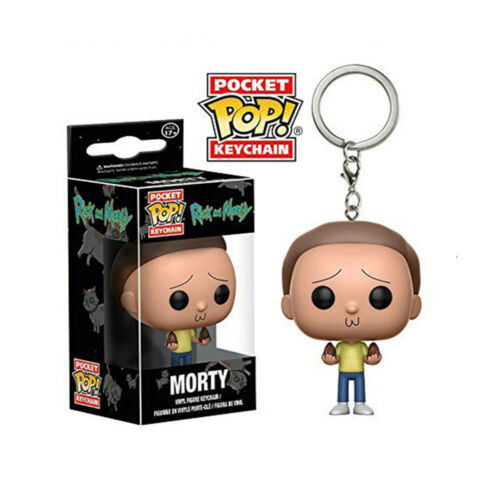 Funko Pocket Pop Keychain Mr.Meeseeks  Pickle Rick Rick Morty Keyring Gift AU