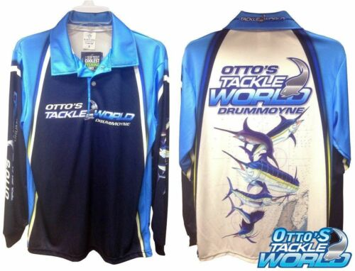 All Sizes Otto/'s Tackle World Long Sleeve Fishing Shirt BRAND NEW at Ottos BRA