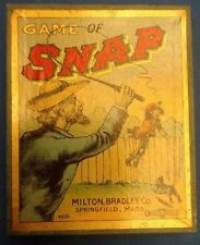 ANTIQUE vintage 1905 Game of SNAP Milton Brothers Whip card game Lithograph 4220