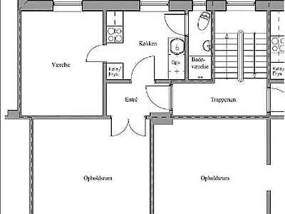 7100 vær. 2 lejlighed, m2 53, Vestergade
