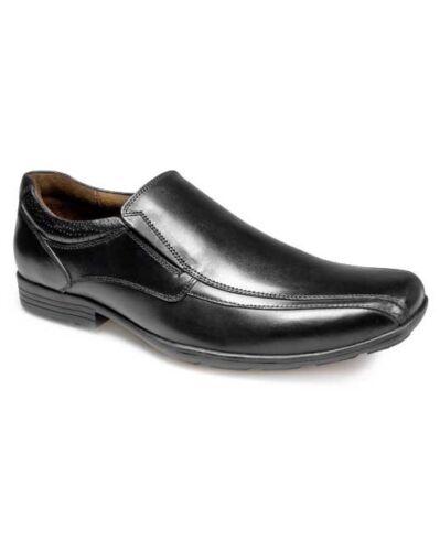 Pod Lincoln Boys Smart Formal SCHOOL SHOES Black Leather Slip On Sizes 32-43