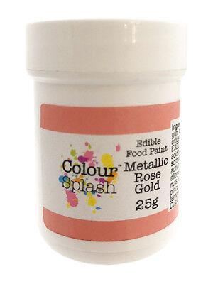 Baking Accs. & Cake Decorating Culpitt Color Splash Comestible Oro Rosa Pintura Metalizada 25g Descuento Sobre Sturdy Construction