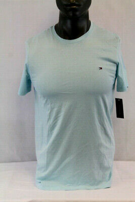 Tommy Hilfiger Men/'s Pond Green Heather Core Logo Crew-Neck Short Sleeve T-Shirt