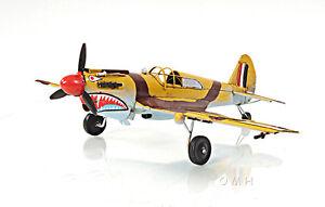 """Curtiss 81A Hawk P-40B Warhawk Metal Desk Model 13"""" WWII Airplane Aeronautical"""