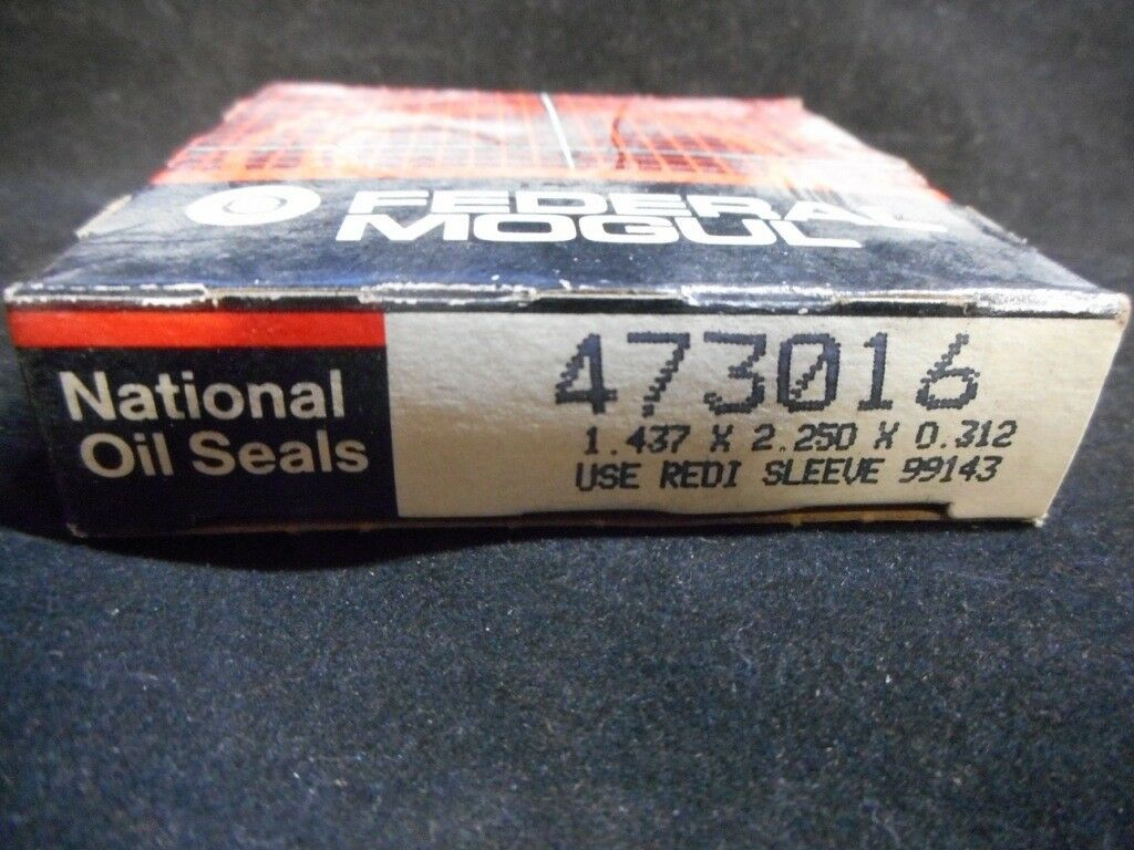 National Federal Mogul 473016 Seal 1.437 X 2.250 X 0.312 Pack of 2