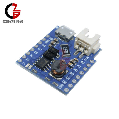 Battery Shield For WeMos D1 mini single lithium battery Charging /& Boost NEW
