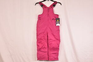 Youth-Girl-039-s-iXtreme-Snow-Bib-Pants-Water-Resistant-Berry-Pink-Size-4
