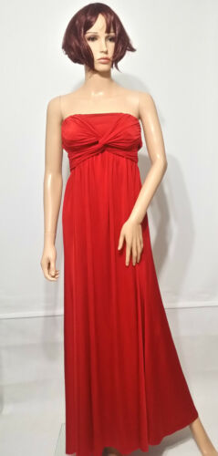 cocktail Party sera da Front in Red Asos Bandeau Twist Abito Uk4 Slinky Maxi n1xqR8Cg