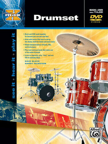 Alfred's MAX Drumset Drumset Book & DVD 22650
