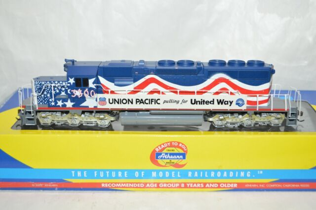 HO scale Athearn RTR Union Pacific RR SD40-2 UNITED WAY locomotive train DCC LED