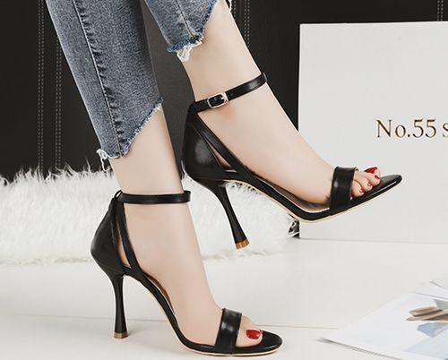 Sandali stiletto eleganti  9.5 cm nero simil pelle simil pelle eleganti 8840