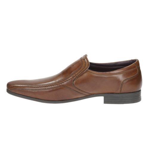 60 Bnib cuero Tamaño Shoes Cognac Clarks Rrp On Stylish 6 Uk 9 de Slip Men £ 8Tw8BqYZ