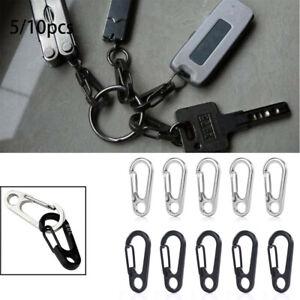 10pcs Carabiner Snap Spring Clips Buckle Hook Keyring Outdoor EDC Survival Tools