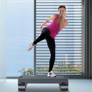 Soozier-35-034-Aerobic-Platform-Adjust-6-034-8-034-10-034-Cardio-Fitness-Stepper