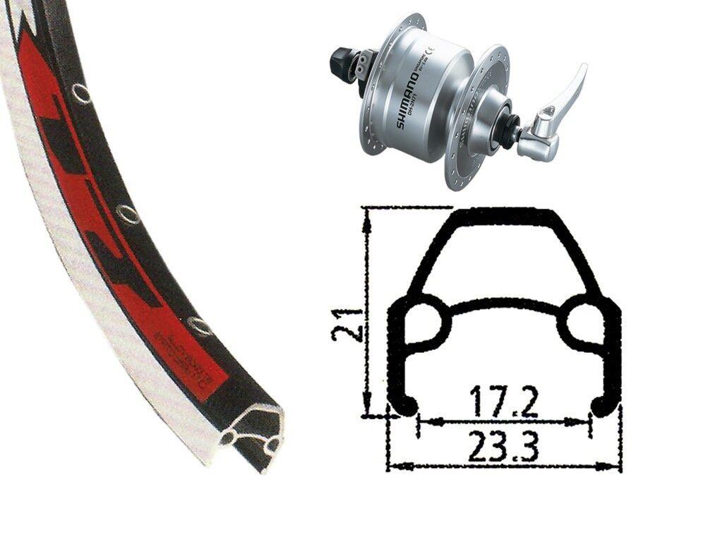 Bike-Parts  28″ Vorderrad Rodi VR 17 + Nabendynamo Shimano DH-3N72 (QR)  enjoy 50% off