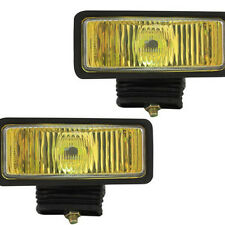 "Pilot Universal 2"" x 6"" H3 55w Amber Lens Chrome Housing Fog Lights Lamps Kit"