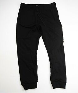 Men-100-authentic-hudson-track-pants-size-large-black-drippin