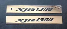 Logotipo de Yamaha XJR1300 espejo pulido de acero cubiertas de brazo de oscilación Swingarm 1300