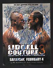 UFC 57 CHUCK LIDDELL +17 Signed Autographed UFC Program Cover Randy Couture A