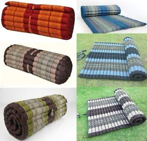 Thai Roll Up Mattress Cushion Camping Day Bed Kapok100 79