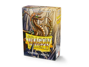 Japanese Matte Copper Case Display Dragon Shield Sleeves - 10x 60 ct Packs