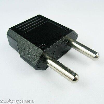 Europe EU Euro Round Plug Adapter 3PK American US to European//Asia Style Plug