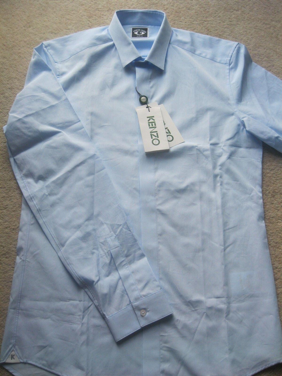 KENZO  nascosti Plackett 'camicia a maniche lunghe-Taglia 16-PREZZO ORIGINALE