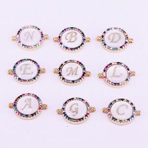 """1PC Stainless Steel Letter /""""G/"""" Charm Pendant Rhinestone For Chain Bracelet DIY"""