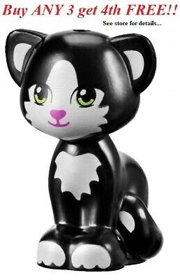 ☀️NEW Lego Friends Animal Pet JYNX Black Cat Lime Green Eyes Kitten Standing