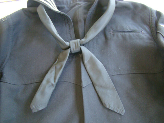 NEW US Navy USN Neckerchief Pre-Rolled Service Dress Blue Whites Enlisted Tie