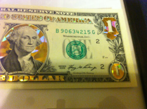 HOLOGRAM COLORIZED USA NOTE LEGAL CURRENCY NOTES 1$-22 K GOLD $1 DOLLAR BILL