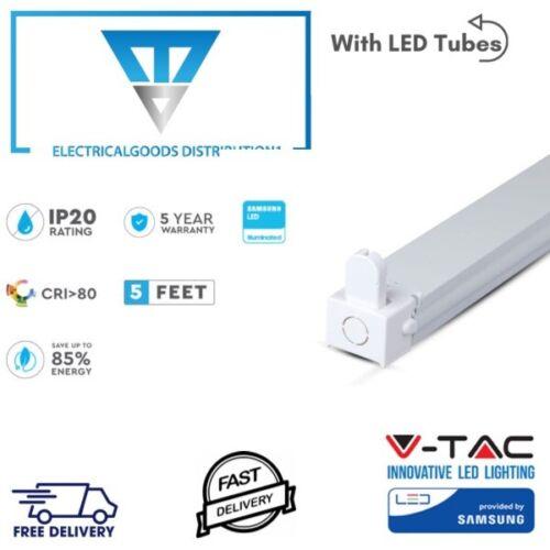 V-Tac Powered By Samsung SINGLE BATTEN FITTING 5FT 150cm WITH LED TUBE 6400K