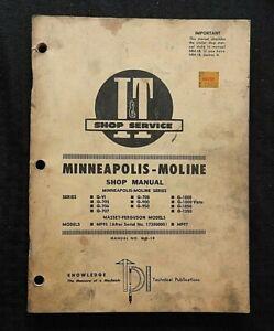 1962-Minneapolis-Moline-G-705-706-707-708-900-950-1000-1350-Trattore-i-T-Manuale